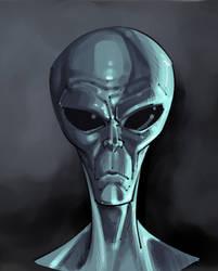 Alien study by TheInkyWay