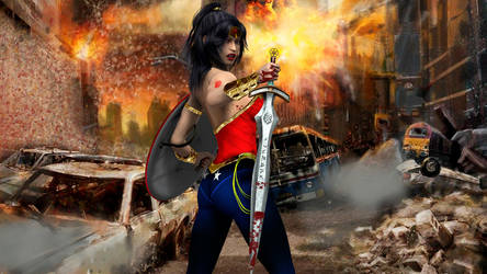 Wonder Woman Destruction I by jhv27