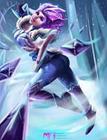 Frostblade Irelia by MiraiHikariArt
