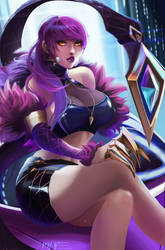 K/DA Evelynn | League of Legends by MiraiHikariArt