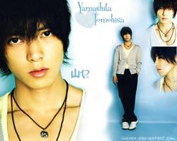 Yamashita Tomohisa wall blue by Luaxan