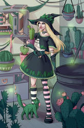 Cactus witch by MalkyTea