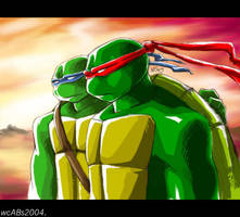 TMNT: Raph and Leo by somethingorother