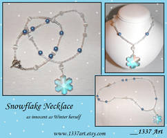 Snowflake Necklace by 1337-Art