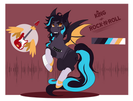 King of rock-n-roll: Mlp auction (CLOSED) by ArcticAquarius