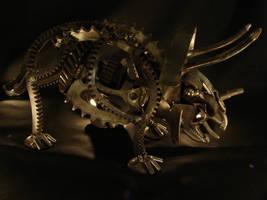 Steampunk Triceraptor by metalmorphoses