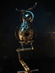 Steampunk OWL by metalmorphoses