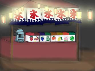 Kakigori stall by facades14