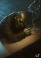 Smoking Skull by Disse86