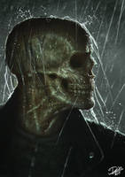 Skull In The Rain by Disse86
