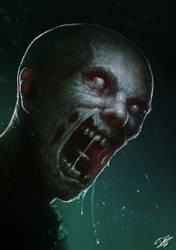 Drooling Zombie by Disse86