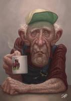 Old Swedish Farmer by Disse86