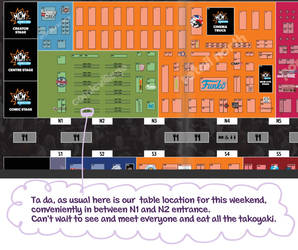 MCM London Con Table Location by Dawnie-chan
