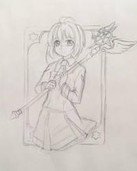 Cardcaptor Sakura Sketch by Dawnie-chan