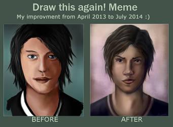 Draw this again meme ! by DivineKataroshie