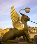 Saint Petersburg Lion lantern by ZvezdochetA