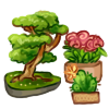 Mini Garden - Bonsai, Cactus and Roses by LiticaHarmony
