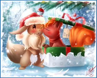 Eevee's Christmas by ShupaMikey