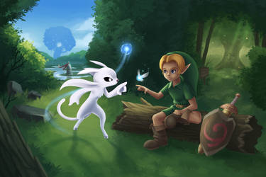 Ori and Link - Our Worlds Collide by ShupaMikey