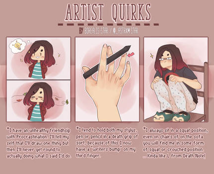 Artist Quirks by Borealis-Star