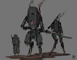 Iron Harvest German mechanized infantry. by Wolfdog-ArtCorner