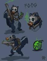 Foog the skunk by Wolfdog-ArtCorner
