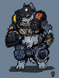 ROAD-DOG - Armello/Overwatch by Wolfdog-ArtCorner
