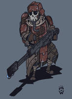 Death Korps of Krieg Grenadier - Wh40k by Wolfdog-ArtCorner