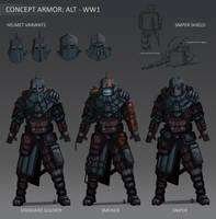 Concept Armor Design - Alternate WW1 by Wolfdog-ArtCorner