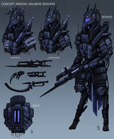 Anubine Reavers - Armor Concept - Futuristic by Wolfdog-ArtCorner