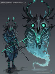 WENDIGO WRAITH KINDRED - Skin Concept - LoL by Wolfdog-ArtCorner