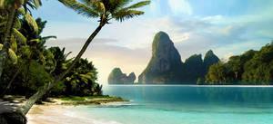 Tropical beach by shiroman-e
