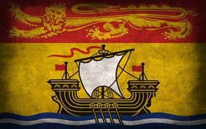 New Brunswick Grunge Flag by Elthalen