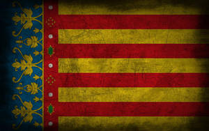 Land of Valencia Grunge Flag by Elthalen