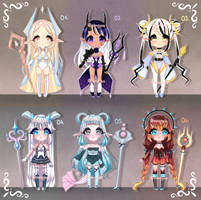 ADOPTS: Elemental mages [2/6 OPEN] by Mewpyonadopts