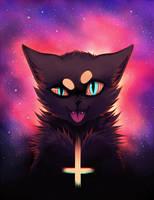 alien cat by feralynn