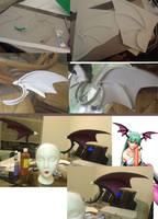 Morrigan Aensland Wing Process by LyoNaka