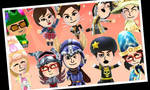 Alejandro and his team on Miitopia by Alejandro10000