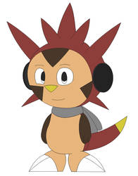 Derek the Chespin in Inafune Style by Alejandro10000