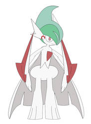 (Gift) Mega Gallade Vinny in Inafune Style by Alejandro10000
