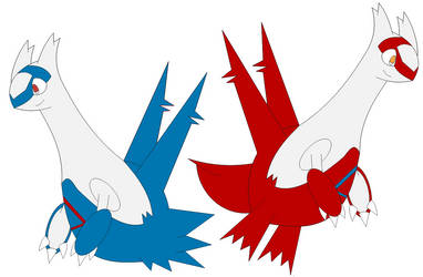 (Fan Art) Latios and Latias in Inafune Style by Alejandro10000