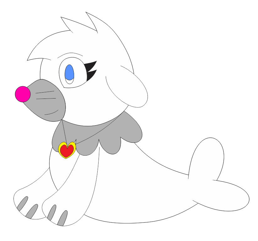 Pearl the Popplio in Inafune Style by Alejandro10000