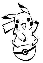 Pikachu being super CUTE by awiede02