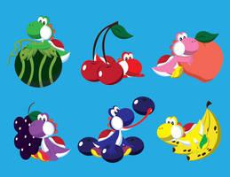 Rainbow Fruits by gemstonelover49