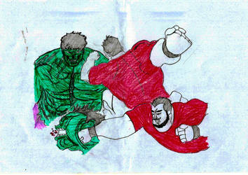 (FIGHT 1) Slick Vs. Hulk - 01  by qwertyshudder23