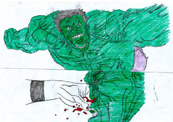 (FIGHT 1) Slick Vs. Hulk - 07 by qwertyshudder23
