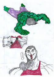 (FIGHT 1) Slick Vs. Hulk - 10 by qwertyshudder23