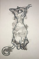 Watercolor Cat by ArtisticallyJade