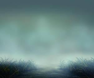 Background Grass Blue by ChaosStocks
