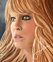 Jennifer Lawrence Speedpainting by NilRecurring